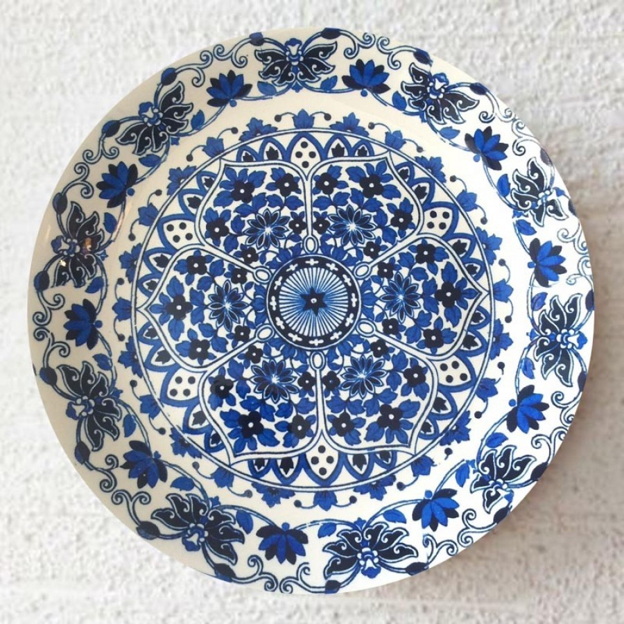 Buy BLUE & WHITE WALL PLATE  Online