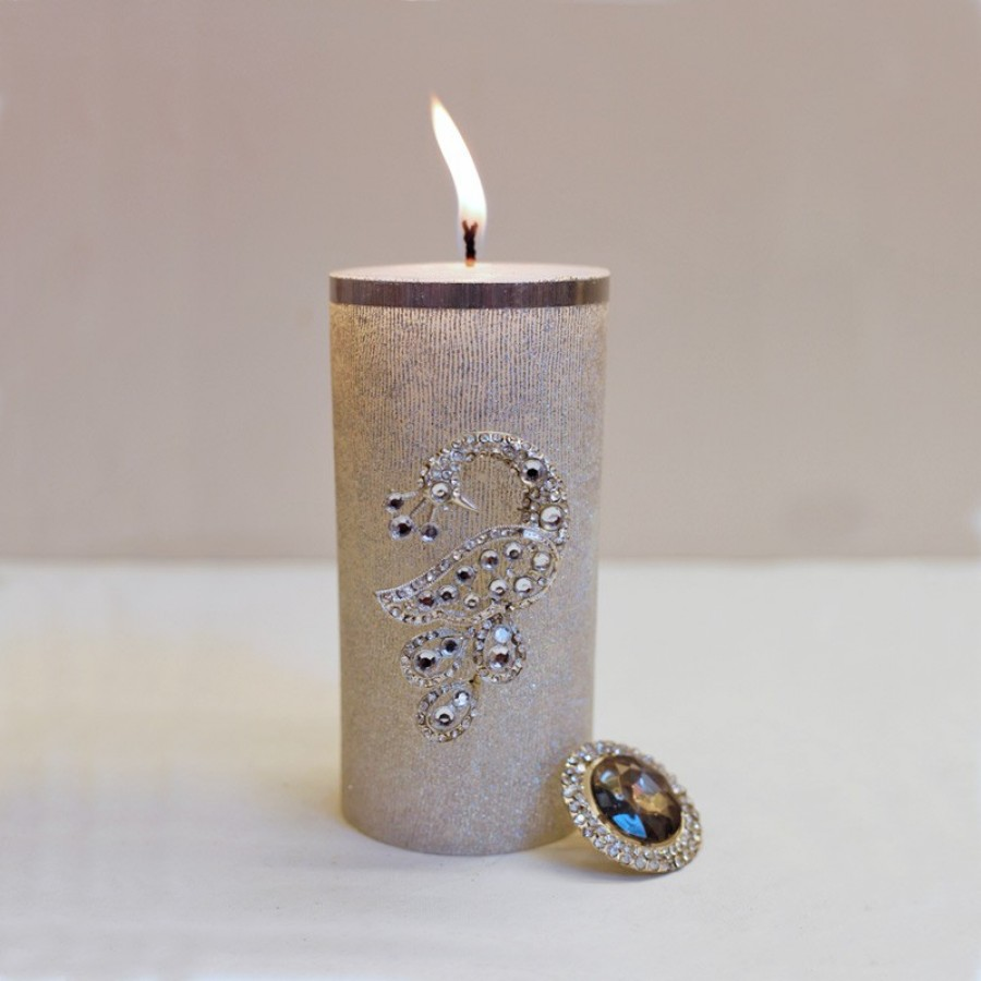 Buy PEACOCK CANDLE PIN Online