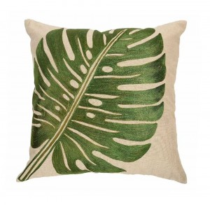 Buy LEAF EMBROIDERY CUSHION COVER Online