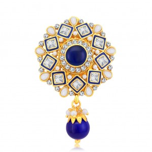 Buy Sukkhi Dazzling Gold Plated AD Brooch For Women Online