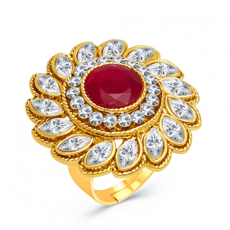 Shopping For | Sukkhi Divine Gold Plated AD Ladies Ring For Women ...