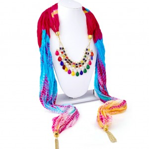 Buy Sukkhi Amazing Silk Detachable Scarf Necklace With Chain For Women Online