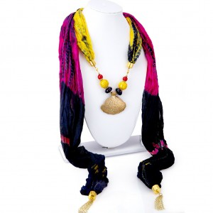 Buy Sukkhi Excellent Silk Detachable Scarf Necklace With Chain For Women Online