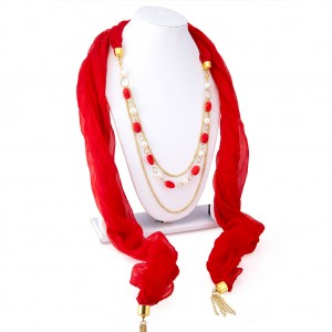 Buy Sukkhi Angelic Chiffon Detachable Scarf Necklace With Chain For Women Online