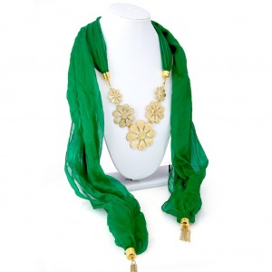 Buy Sukkhi Gorgeous Chiffon Detachable Scarf Necklace With Chain For Women Online