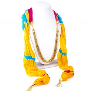 Buy Sukkhi Finely Silk Detachable Scarf Necklace With Chain For Women Online