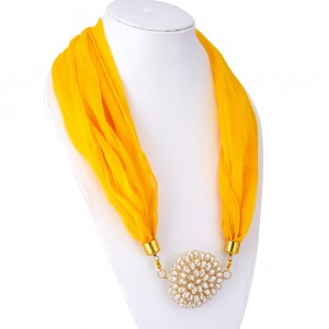 Buy Sukkhi Shimmering Chiffon Detachable Scarf Necklace With Chain For Women Online