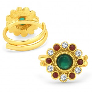Buy Sukkhi Delightly Gold Plated AD ToeRing For Women Online