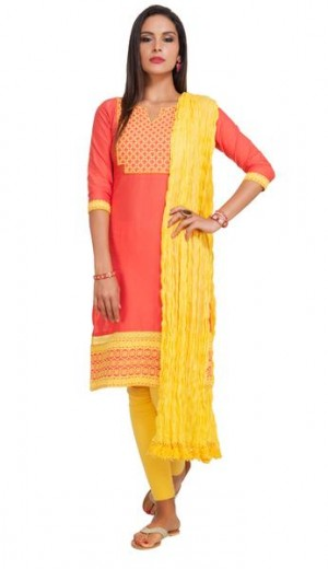 Buy Coral Honeycomb Dobby Unstitched Set Online