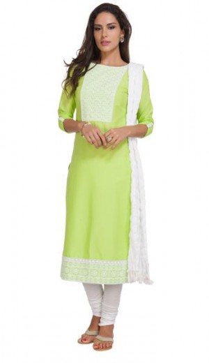 Buy Lime Honeycomb Dobby Unstitched Set Online