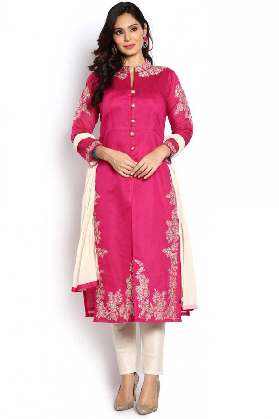 Buy Soch Pink And Gold Salwar Suit Online