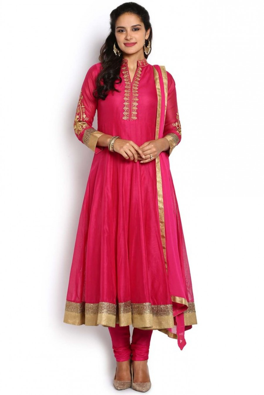 4a0717992b Shop for Soch Pink And Gold Anarkali Suit | 530715