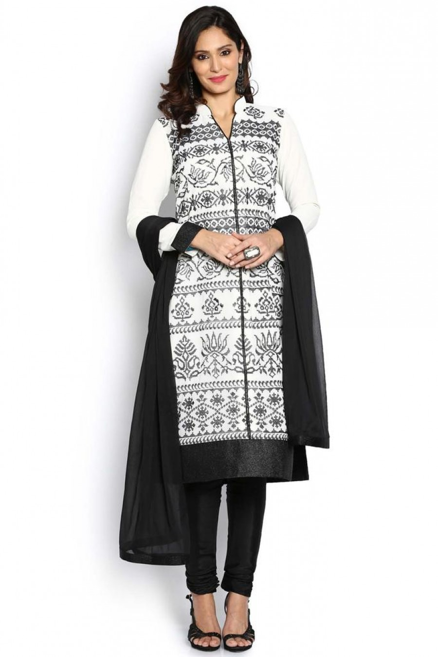 Purchase | Soch Black And White Salwar Suit | 530717