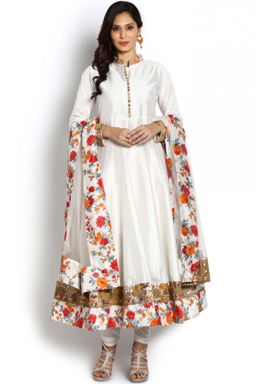 Online Shopping Soch White And Gold Anarkali Suit | 530722