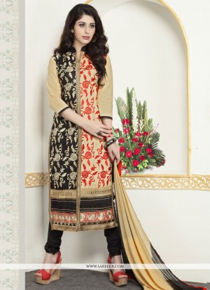 Buy Aesthetic Cotton Churidar Designer Suit Online