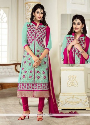 Buy Chic Turquoise Churidar Designer Suit Online