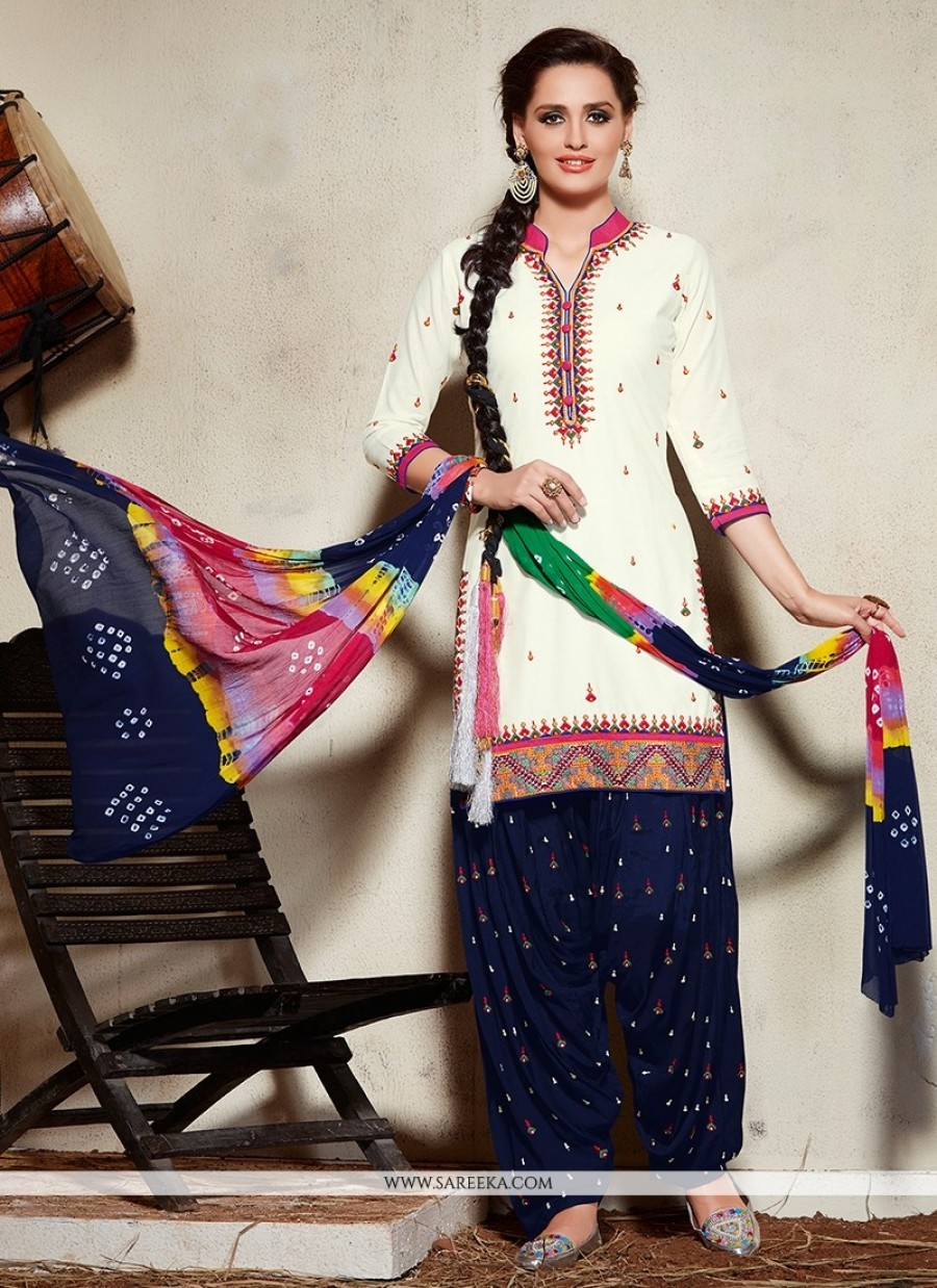 3f6d6eb13 Get Pristine Cotton Embroidered Work Punjabi Suit at best price
