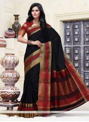 Buy Superlative Cotton Patch Border Work Designer Saree Online