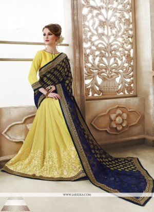 Buy Attractive Yellow Designer Saree Online
