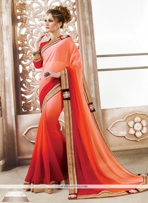 Buy Arresting Embroidered Work Designer Saree Online