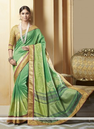 Buy Impeccable Silk Printed Saree Online