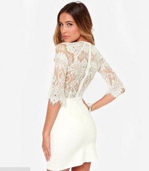 Buy INTRICATE WHITE DRESS Online