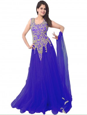 Buy THANKAR LATEST DESIGNER HEAVY BLUE PARTYWEAR GOWN Online