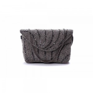 Buy DIWAAH!! HAND CRAFTED BLACK EMBELLISHED CLUTCH  Online