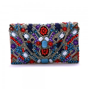 Buy DIWAAH!! HAND CRAFTED EMBROIDERED BEAUTIFUL CLUTCH.  Online