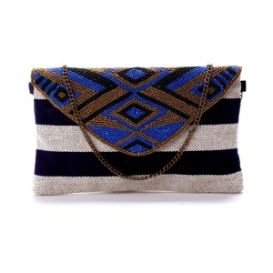 Buy DIWAAH!! HAND CRAFTED MULTI EMBELLISHED CLUTCH  Online