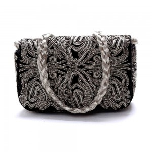 Buy DIWAAH!! HAND CRAFTED BLACK EMBROIDERED CLUTCH  Online