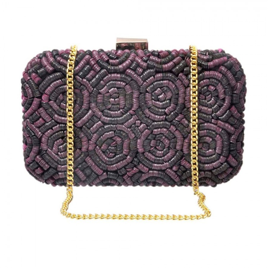 Buy DIWAAH!! HAND CRAFTED MULTI COLOR BOX CLUTCH  Online