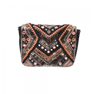 Buy DIWAAH!! HAND CRAFTED MULTI EMBROIDARY CLUTCH  Online