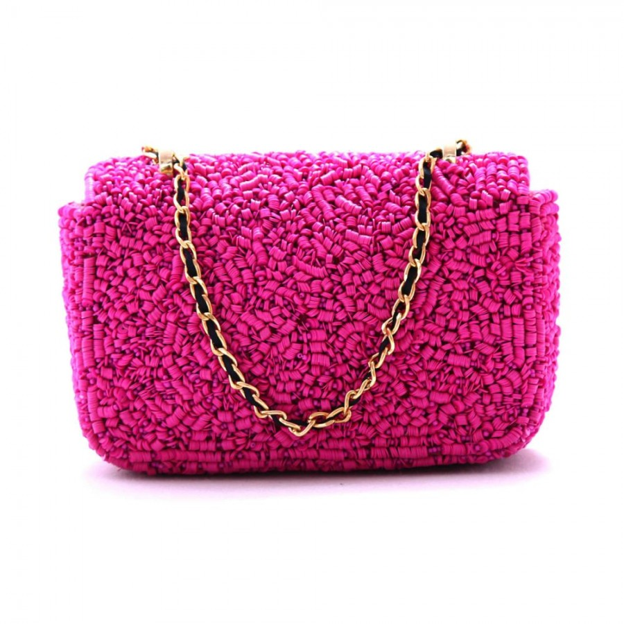 Buy DIWAAH!! HAND CRAFTED PINK BEAUTIFUL EMBROIDERED CLUTCH  Online