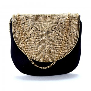 Buy DIWAAH!! GOLDEN EMBELLISHED ENVELOP CLUTCH  Online
