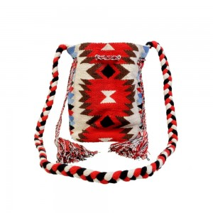 Buy DIWAAH!! MULTI RUG WITH TASSEL BEAUTIFUL JHOLA BAG.  Online