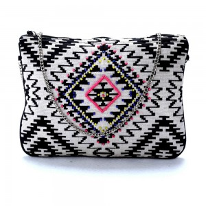 Buy DIWAAH !! BLACK PRINTED BEAUTIFUL SILLING BAG.  Online