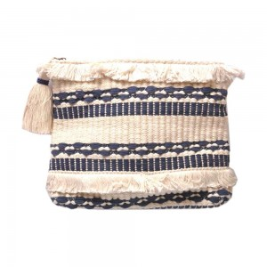 Buy DIWAAH!! HAND CRAFTED MULTI RUG ZIP TOP CLUTCH  Online
