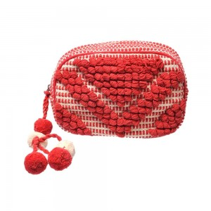 Buy DIWAAH!! HAND CRAFTED RED UTILITY POUCH  Online