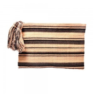 Buy DIWAAH!! HAND CRAFTTED MULTI EMBROIDERED RUG ZIP TOP POUCH  Online