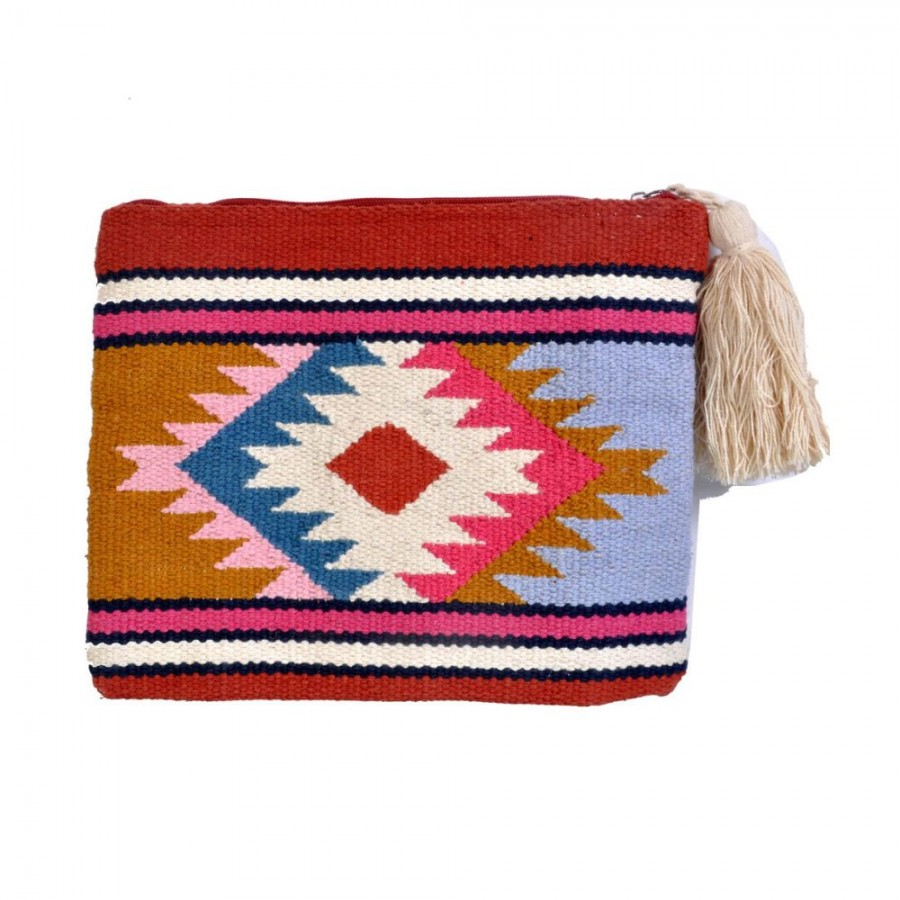 Buy DIWAAH!! MULTICOLOR EMBROIDARY RUG POUCH  Online