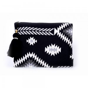 Buy DIWAAH!! HAND CRAFTED BLACK EMBROIDERED POUCH  Online