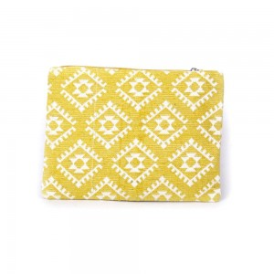 Buy DIWAAH!! HAND CRAFTED YELLOW EMBROIDERED POUCH  Online