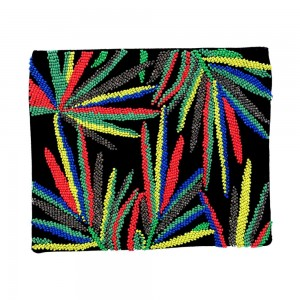 Buy DIWAAH!! BLACK MULTI BEADED BEAUTIFUL EMBROIDERY POUCH.  Online