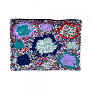 Buy MULTI SEQUENCE BEAUTIFULLY LADY HAND POUCH.  Online