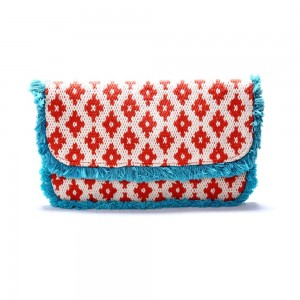 Buy DIWAAH!! MULTI RUG WITH FRINGESS FOLD OVER CLUTCH.  Online