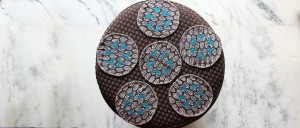 Buy  Tea Coasters  Set of 6  Brown & Blue Online