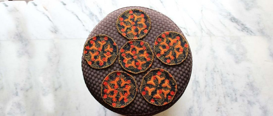 Buy  Tea Coasters  Set of 6 Orange Online
