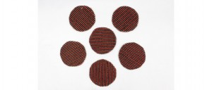 Buy  Tea Coasters  Set of 6 Red & Black Online