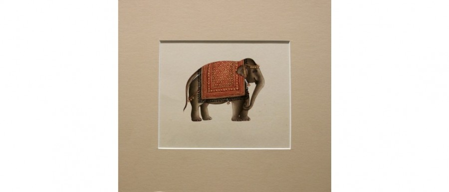 Buy  Majestic Miniature Painting of Elephant Online